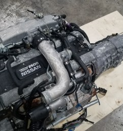 rb25det nissan skyline r33 rb25 2 5l series 2 turbo engine with 5 speed manual transmission complete swap [ 4032 x 2268 Pixel ]