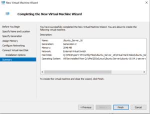 Creating first HyperV VM 08