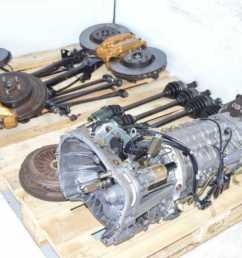 used jdm subaru sti ty856wb3ka 6 speed dccd transmission package with 4 corner axles brembo [ 1200 x 796 Pixel ]