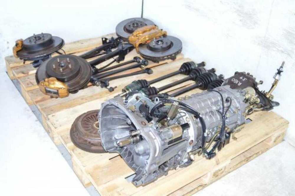 medium resolution of used jdm subaru sti ty856wb3ka 6 speed dccd transmission package with 4 corner axles brembo