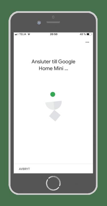 Google Home - Ansluta till Google Home Mini