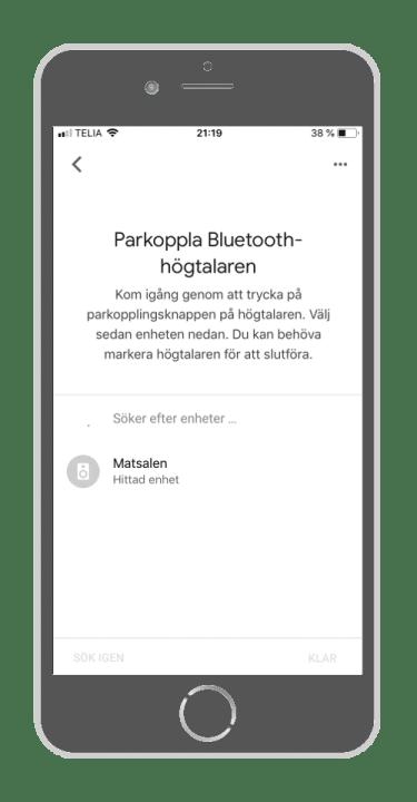 Google Home - Parkoppla Bluetooth-högtalaren