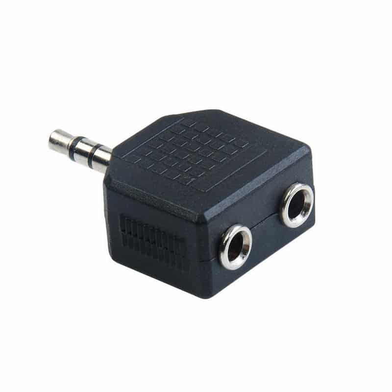 stereo förgrening hörlurar