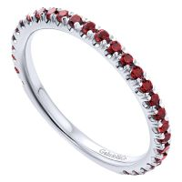 White Gold Garnet Stack Ring | J. Douglas Jewelers