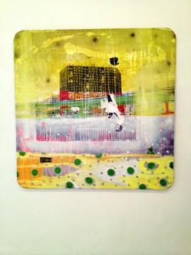 'Amarillo sentimental', 2012 Técnica mixta sobre lienzo