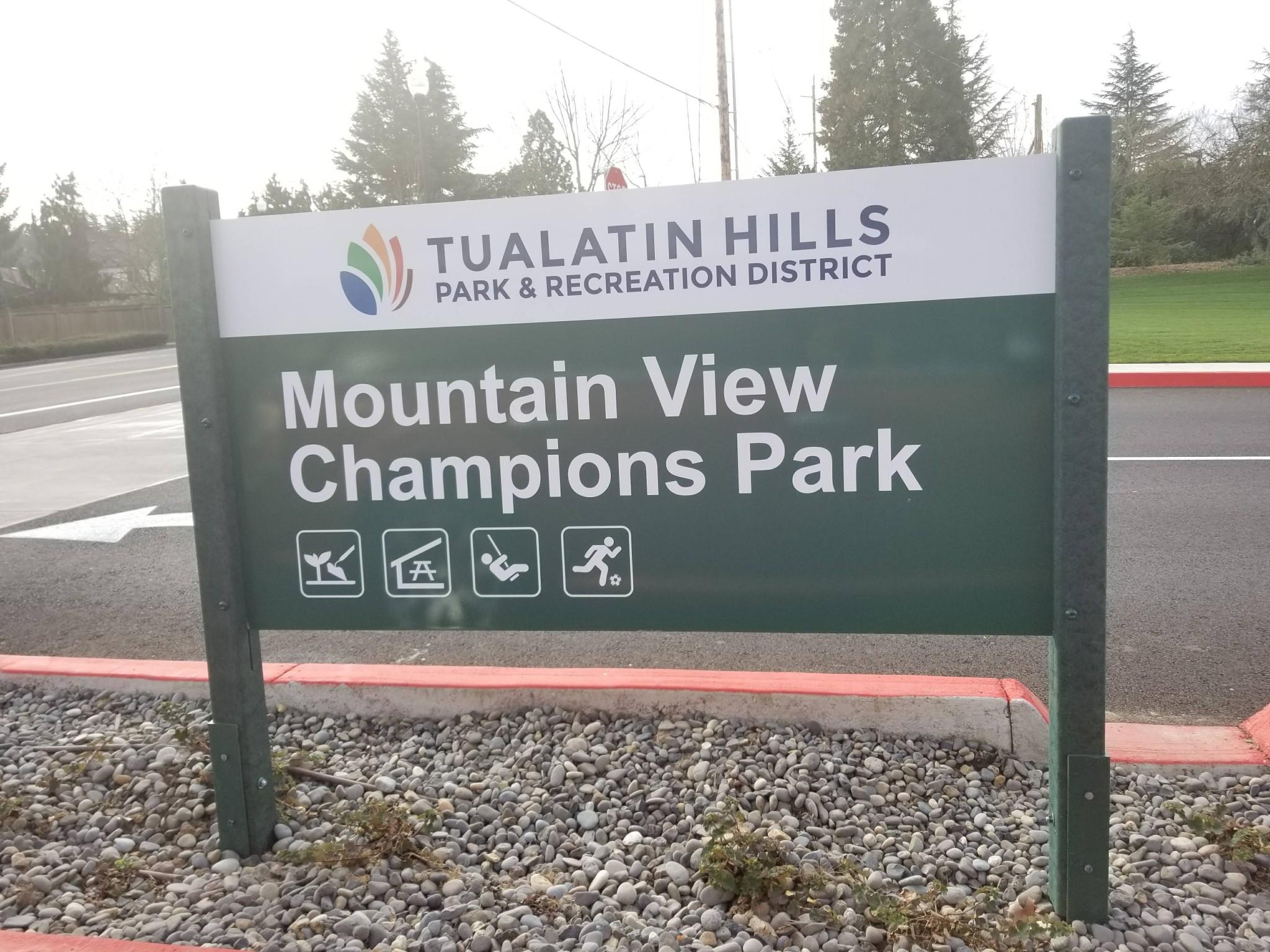 Mountain View Champions Park Aloha Oregon THPRD