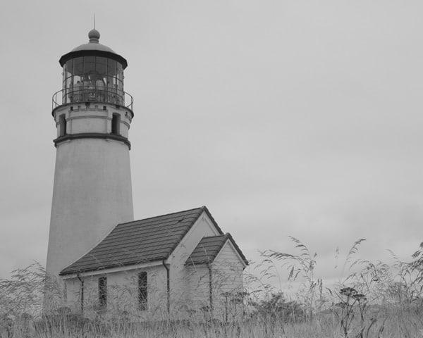 Landscape Cape Blanco, Oregon in Black & White