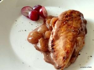 Receitas de natal - Filé de frango com molho de uva