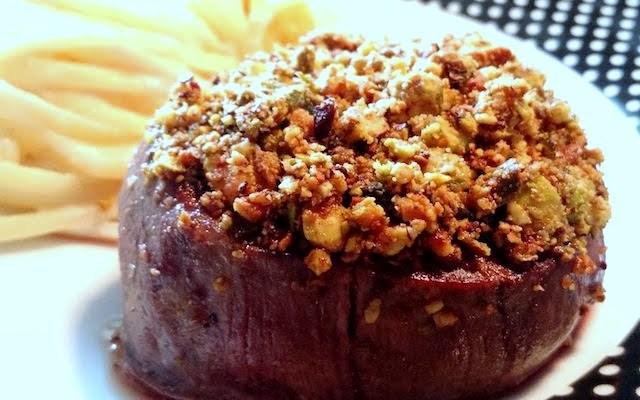 receita de mignon com crosta de pistache