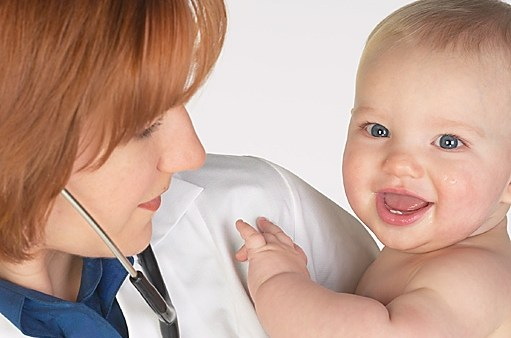 Doctor and a baby