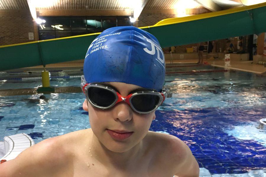 A child swimming