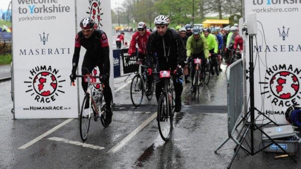 Maserati Tour de Yorkshire cyclists