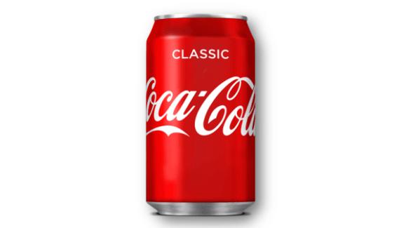 Can of classic Coca Cola