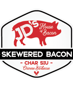 Char Siu Chinese BBQ Skewered Bacon