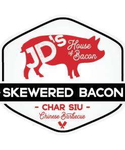 Char Siu Chinese BBQ Skewered Bacon