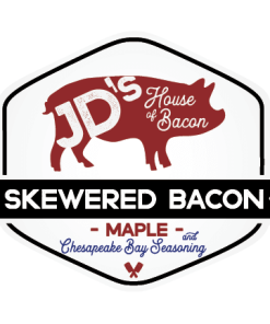 Maple and Chesapeake Bay Seasoned Skewered Bacon