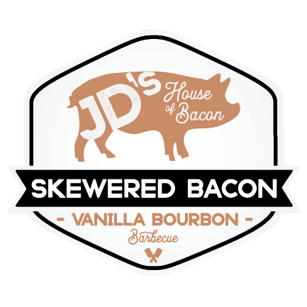 Vanilla Bourbon Barbecue Skewered Bacon