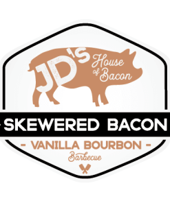 Vanilla Bourbon Barbecue Skewered Bacon