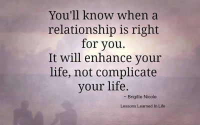 When a relationship is right…