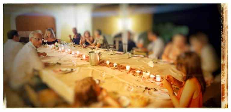 chemin de table en lumières