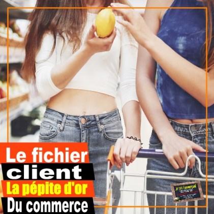 fichier client femmes au supermarché