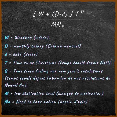 Blue Monday - Equation simplifiée Cliff Arnall