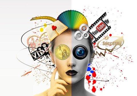 Miracle Morning : Visualisation et succès. Visage d'une femme autour duquel gravitent plusieurs images colorées (livre, vidéo, succès...)