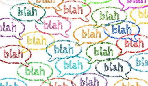 Le small talk ces conversations informelles créatrices de liens - bulles où il est écrit blah