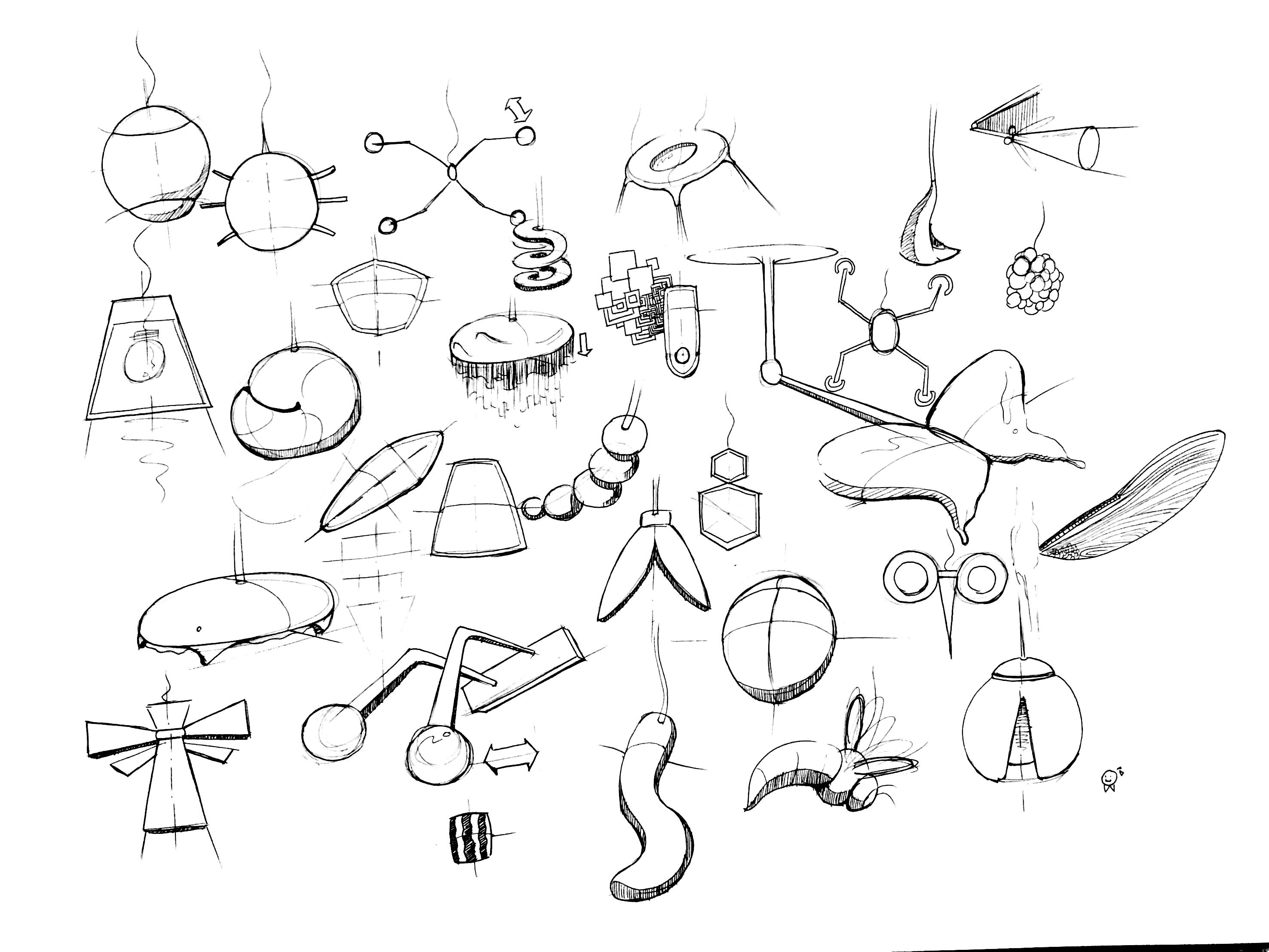 Light Design : Idea Sketches