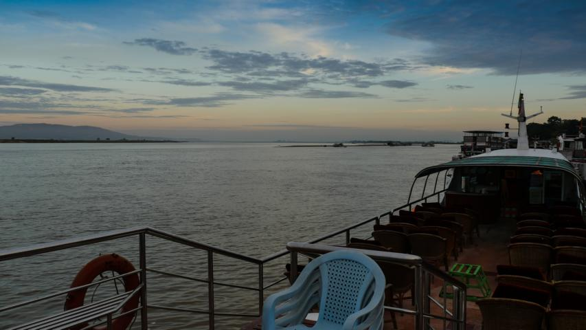 early morning on the th november we drive to the jetty in mandalay we embark on the malikha express boat to bagan well the boat doesnut seem to be