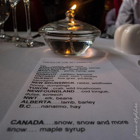 Menu of Canada