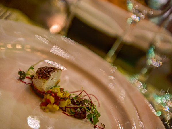 Scallop with coulis