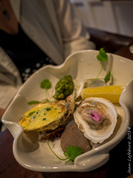 Oyster Trio: Raw, Baked, Fried.  Best Oysters I've had in decades!