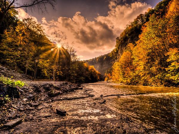 Hike in Finger Lakes New York