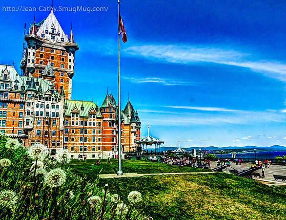 Hotel Frontenac and field