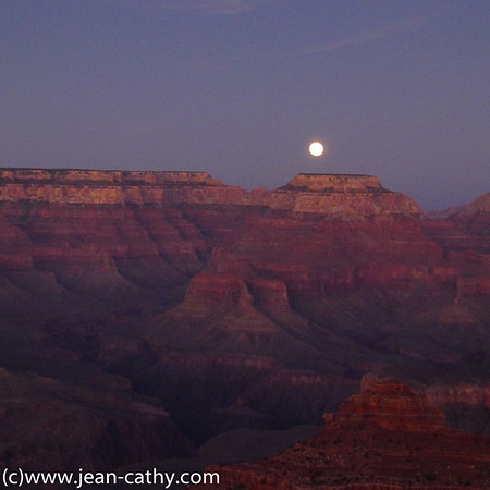 Moon over Grand Canyon