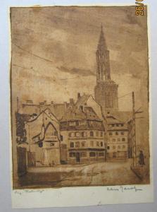 Gravure de Strasbourg