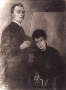 Autoportrait Jean Jacoby avec Rosa Jacoby
