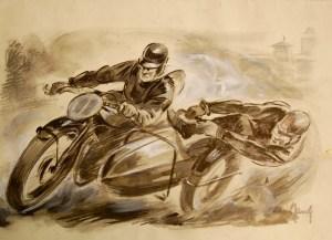 Motorradrennen - Front