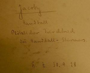 Handball - Back1