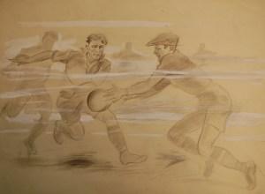Fussball im Nebel - Front
