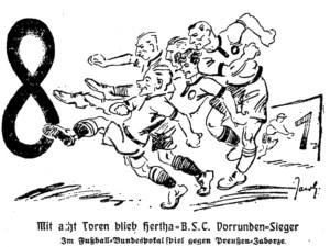 Mit acht Toren blieb Hertha B.S.C. Dorrunden Sieger