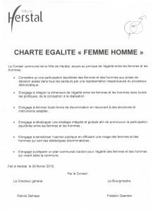 charte egalite