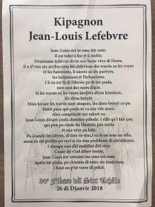 Kipagnon Jean-Louis Lefebvre