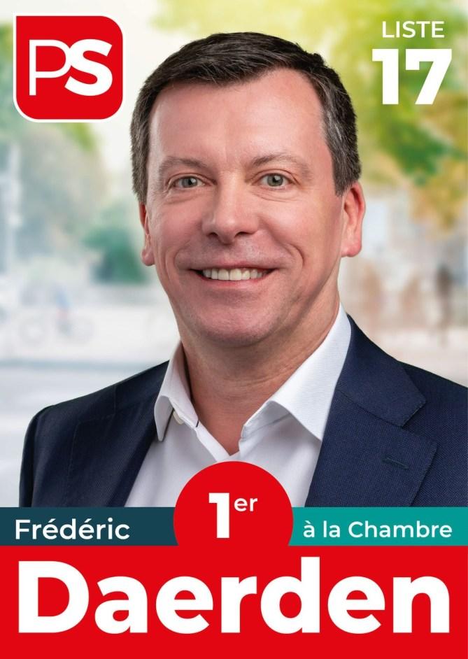 Frederic Daerden 1er a la Chambre liste 17 PS