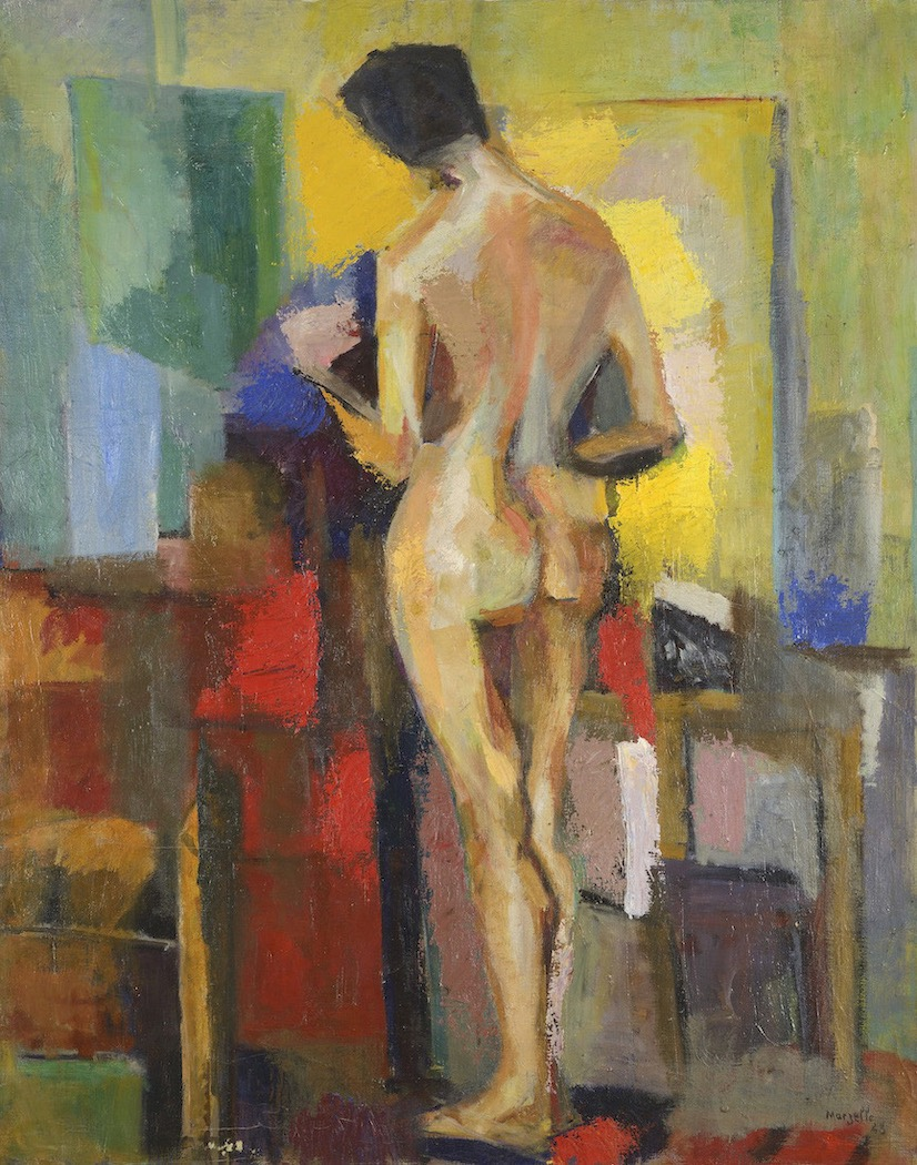Jean Marzelle, Nu de dos à l'atelier, 1943, Oil on canvas, 92 x 73 cm