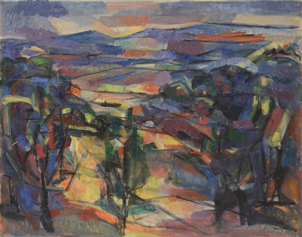Jean Marzelle, Paysage de Provence, 1958, Oil on canvas, 73 x 92 cm