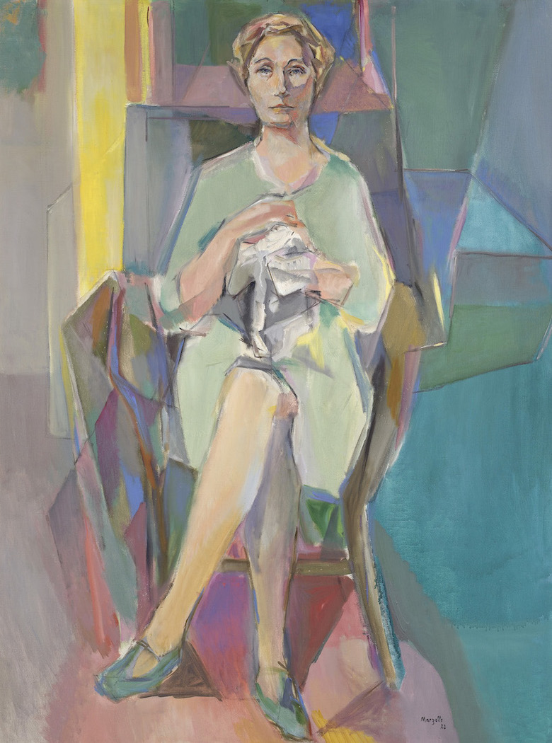 Jean Marzelle, Portrait de Simone Joubert, 1972, Oil on canvas, 116 x 89 cm