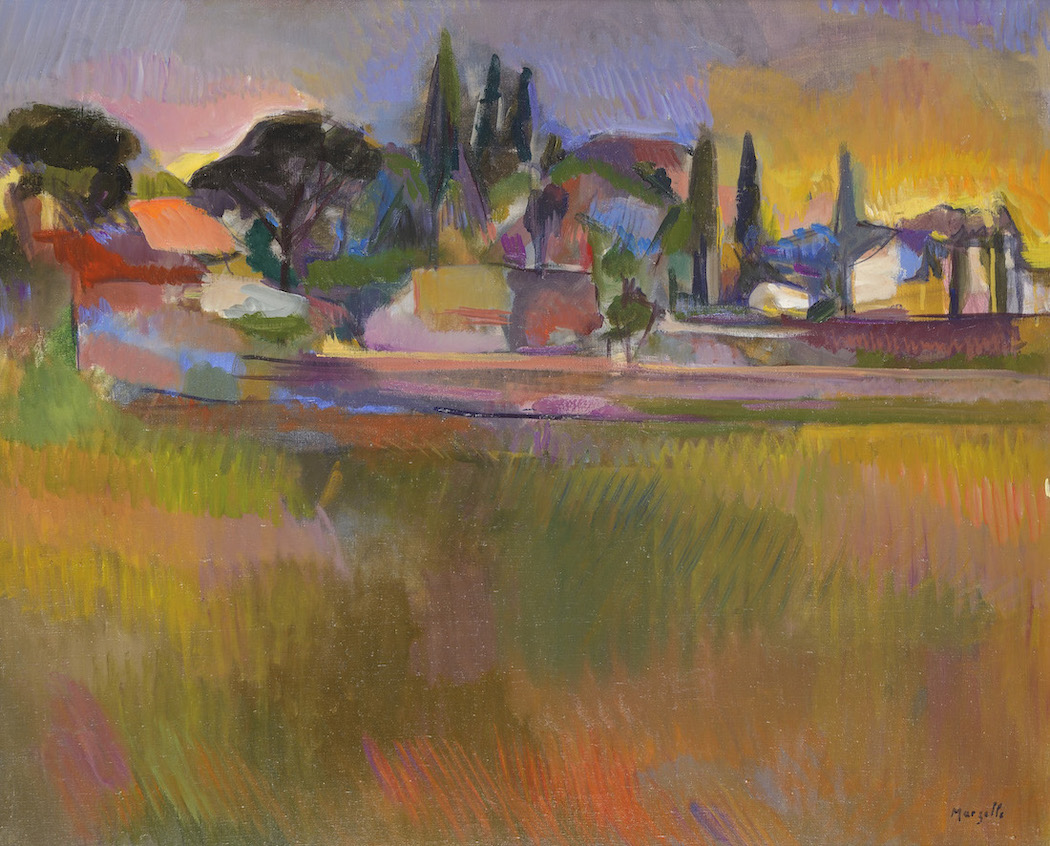 Jean Marzelle, Saint-Rémy-de-Provence, 1979, Oil on canvas, 60 x 73 cm