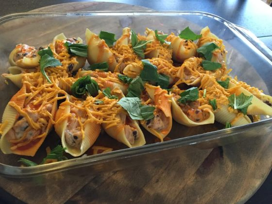 Vegan Spicy Stuffed Shells